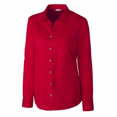Clique Women's Twill Shirt: 55% cotton, 45% polyester  Long Sleeve (LQW00007)