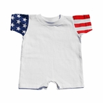 Code V Infant Romper: 100% Cotton Stars & Stripes (4476)