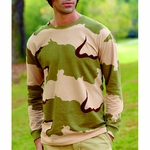 Code V Men's T-Shirt: 100% Cotton Long-Sleeve Camouflage (3916)