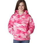Code V Youth Sweatshirt: 7.5 oz. Camouflage Hood (2969)