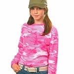 Code V Youth T-Shirt: 100% Cotton Long-Sleeve Camouflage (2216)