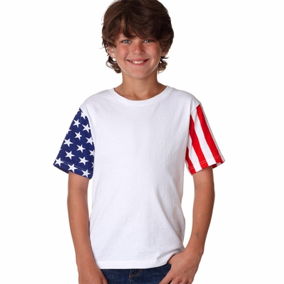 Code V Youth T-Shirt: 100% Cotton Stars & Stripes (2276)