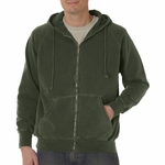 Comfort Colors Men's Sweatshirt: 100% Cotton Full-Zip Hooded (C1563)