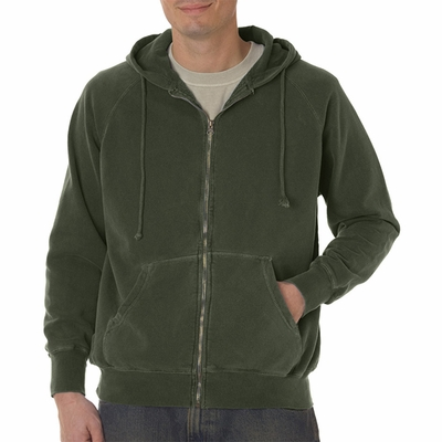 10 oz. Garment-Dyed Full-Zip Hood: (C1563)
