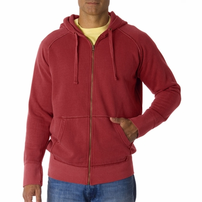 Comfort Colors Men's Sweatshirt: Heavyweight Frayed Full-Zip Hooded (1564)