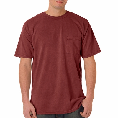 Comfort Colors Men's T-Shirt: 100% Cotton Heavyweight Short-Sleeve Pocket (6030)