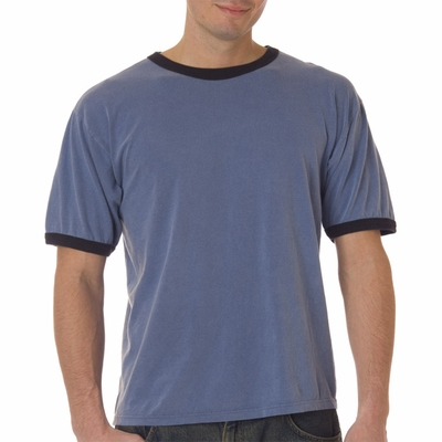 Comfort Colors Men's T-Shirt: 100% Cotton Trimmed Ringer (6066)