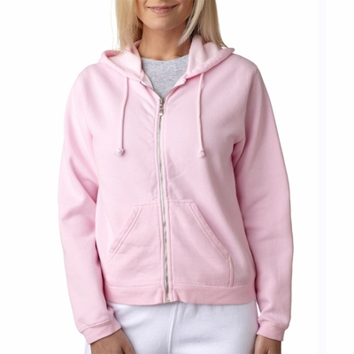 Comfort Colors Women's Sweatshirt: Full-Zip Hooded (C1598)
