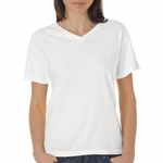 Ladies' 4.8 oz. Garment-Dyed V-Neck T-Shirt: (C3099)