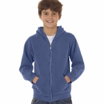 Youth 10 oz. Garment-Dyed Full-Zip Hooded Sweatshirt: (C7755)