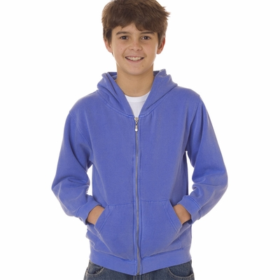 Comfort Colors Youth Sweatshirt: Full-Zip Hooded (7755)