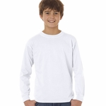 Youth 5.4 oz. Garment-Dyed Long-Sleeve T-Shirt: (C3483)