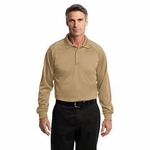 CornerStone Men's Polo Shirt: Long Sleeve Tag Free Tactical(CS410LS)
