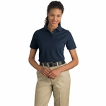 CornerStone Women's Polo Shirt: Industrial Pocketless Pique (CS403)