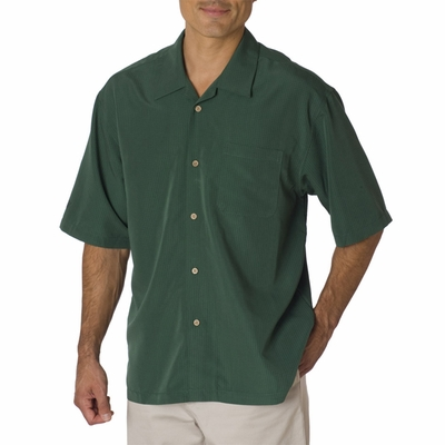 Cubavera Men's Camp Shirt: Shadow Box (C5402)