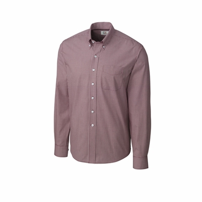 Cutter & Buck Big & Tall Men's Gingham Shirt: Epic Easy Care Long Sleeve Long Sleeve (BCW01878)