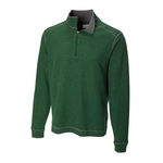 Cutter & Buck Big & Tall Men's Jacket: 100% Cotton Half Zip Long Sleeve (BCK00492)
