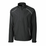 Cutter & Buck Big & Tall Men's Jacket: 100% Polyester Twill Half Zip Long Sleeve (BCO00922)