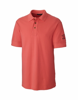 Cutter & Buck Big & Tall Men's Polo Shirt: 100% Cotton Pique Tour Logo (BCK08972)