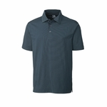 Cutter & Buck Big & Tall Men's Polo Shirt: Cotton Blend Medina Tonal Stripe (BCK00427)