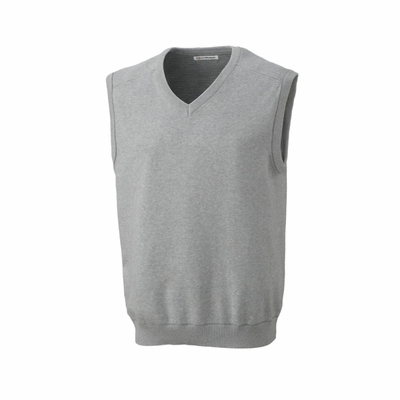 Cutter & Buck Big & Tall Men's Sweater Vest: 100% Combed Cotton Broadview V-Neck (BCS01422)