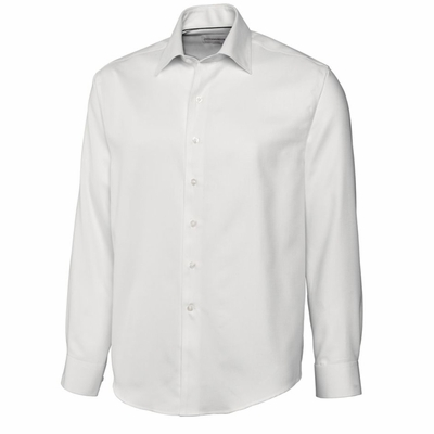 Cutter & Buck Men's Dobby Shirt: 60% Cotton, 40% Polyester  Long Sleeve (MCW01620)