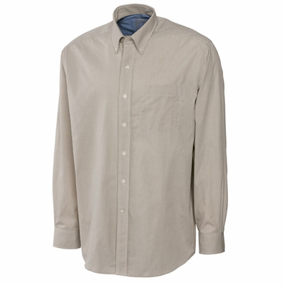 Cutter & Buck Men's Gingham Shirt: Poplin Pocketed Long Sleeve (MCW01744)