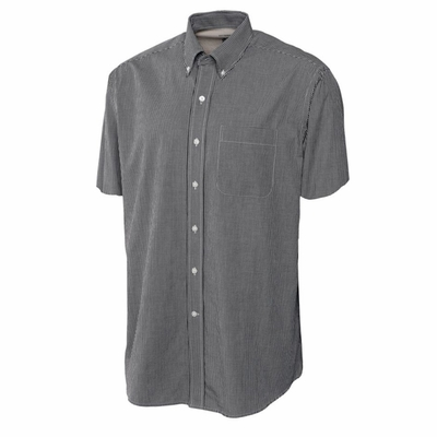 Cutter & Buck Men's Gingham Shirt: Poplin Pocketed Short Sleeve (MCW01792)