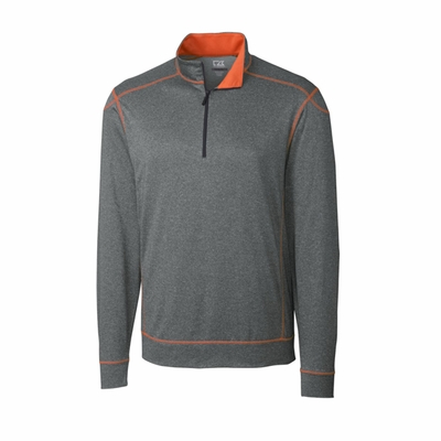 Cutter & Buck Men's Half-Zip: 100% Polyester Half Zip Long Sleeve (MCK00805)