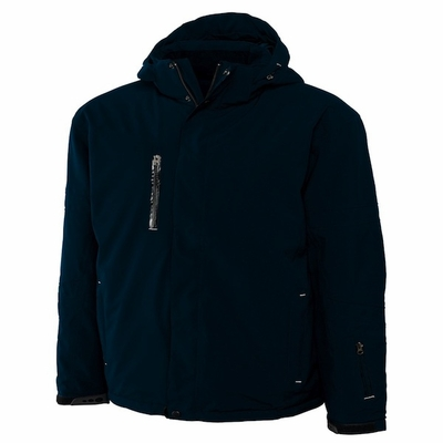 Cutter & Buck Men's Jacket: Sanders Full-Zip with Snap-Off Hood (MCO00874)