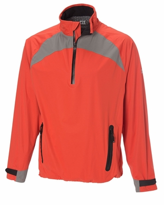 Cutter & Buck Men's Jacket: 100% Polyester Half Zip Long Sleeve (MCO00905)