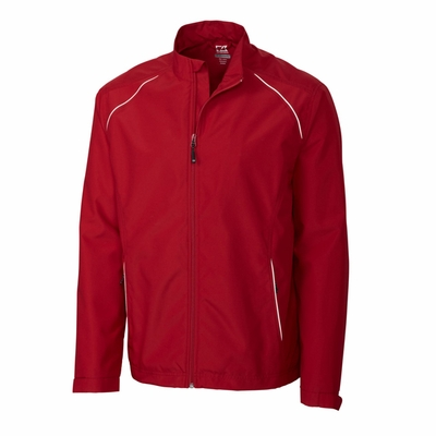 Cutter & Buck Men's Jacket: 100% Polyester Twill Full Zip Long Sleeve (MCO00923)