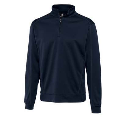 Cutter & Buck Men's Sweatshirt: 100% Polyester Half Zip Long Sleeve (MCK08861)
