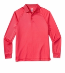 Cutter & Buck Men's Polo Shirt: 100% Polyester  Long Sleeve (MCK00565)