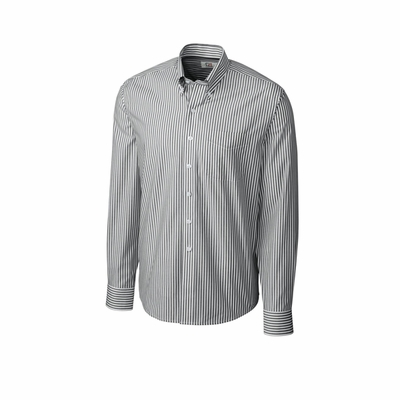 Cutter & Buck Men's Poplin Shirt: Epic Easy Care Bengal Long Sleeve (MCW01883)