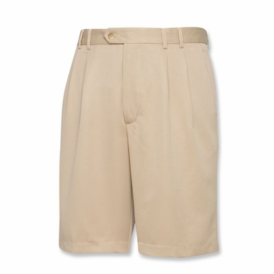 Cutter & Buck Men's Shorts: 100% Polyester Luxe Double Pleat 10-Inch (MCB09753)