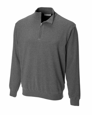 Cutter & Buck Men's Wind Sweater: 100% Combed Cotton Sandpoint Half-Zip (MCS01763)