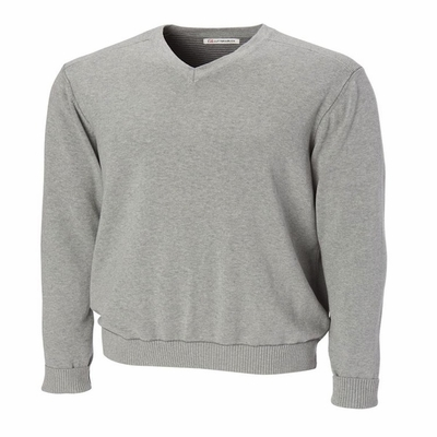 Cutter & Buck Men's Sweater: 100% Cotton Broadview V-Neck (MCS01842)