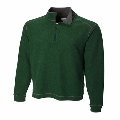 Cutter & Buck Men's Sweatshirt: 100% Cotton Half-Zip Overtime (MCK00492)