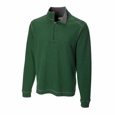 Cutter & Buck Men's Sweatshirt: 100% Cotton Half Zip Long Sleeve (MCK00492)