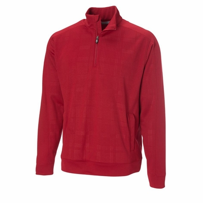 Cutter & Buck Men's Sweatshirt: 100% Cotton Kingsgate Embossed Half-Zip (MCK00662)