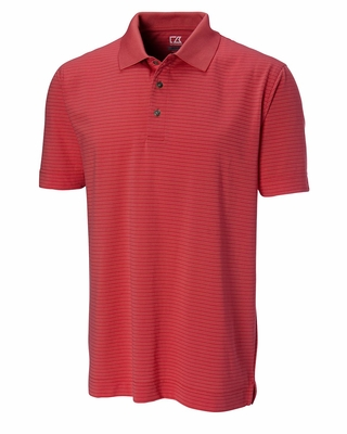Cutter & Buck Men's Polo Shirt: Cotton Blend Inglewood Stripe (MCK00660)