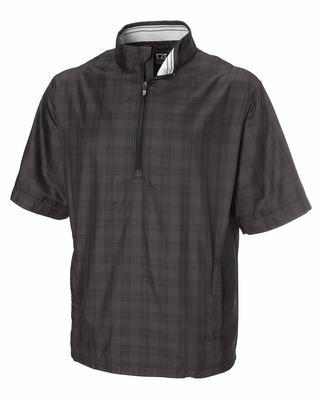 Cutter & Buck Men's Windshirt: 100% Polyester Half Zip 1/2 Sleeve (MCO00904)