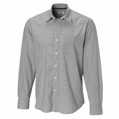 Cutter & Buck Men's Woven Shirt: 100% Cotton Georgetown Stripe Long Sleeve (MCW01835)