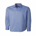 Cutter & Buck Mens Big & Tall L/S Epic Easy Care Mini Herringbone BCW01879