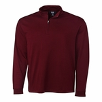 Cutter & Buck Mens Big & Tall L/S Pima Belfair Zip Mock BCK00973
