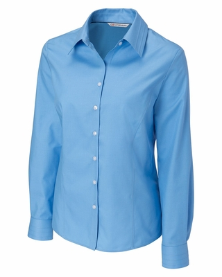 Cutter & Buck Plus Size Women's Twill Shirt: Epic Easy Care Long Sleeve (WCW08394)