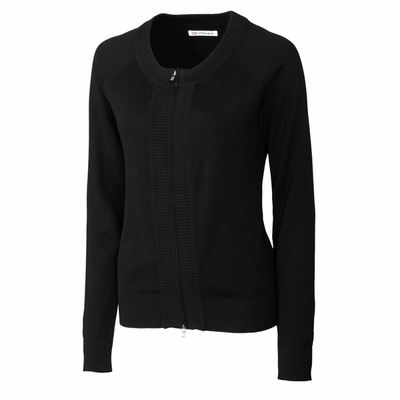Cutter & Buck Women's Cardigan: 100% Combed Cotton Full Zip Long Sleeve (LCS04771)