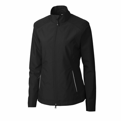 Cutter & Buck Women's Jacket: 100% Polyester Twill Full Zip Long Sleeve (LCO01211)