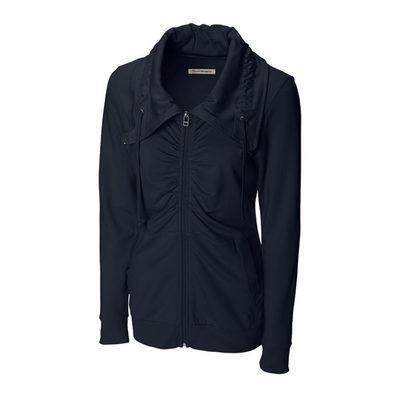 Cutter & Buck Women's Jacket: 95% Cotton, 5% Spandex Full Zip Long Sleeve (LCK02423)